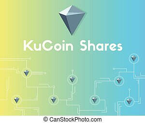 KuCoin Shares cryptocurrency network background