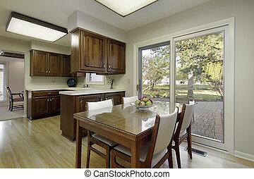 dunkel holz cabinetry kueche cabinetry dunkel holz luxuri ses heim kueche. Black Bedroom Furniture Sets. Home Design Ideas