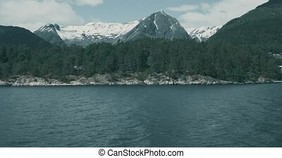 kuesten, schiffsausflug , auf, norwegisch, fjorde