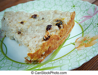 Kugel - baked rice pudding or casserole. traditional...