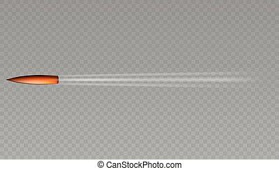 kugel, fliegendes, realistisch