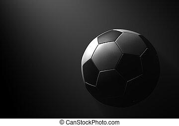 kugel, fußball, schwarzer hintergrund