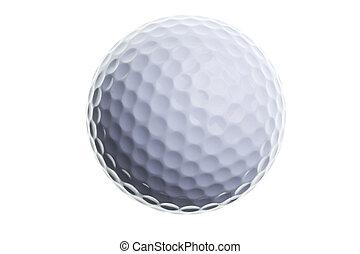 kugel, golfen, freigestellt, weißes