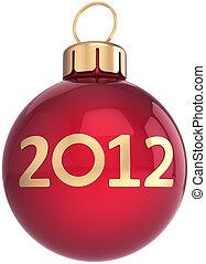 kugel, jahr, neu , 2012, weihnachten, glücklich