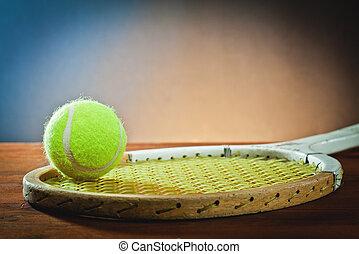 kugel, und, tennisschläger