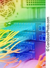 kugel, vernetzung, technologie, kabel, server, daten zentrieren