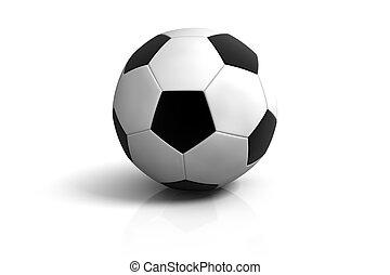 kugel, weißes, fußball, hintergrund