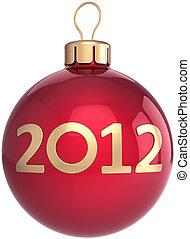 kugel, weihnachten, jahr, neu , flitter, 2012