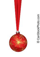 kugel, weihnachten, (vector)