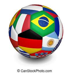 kugel, welt, fußballfootball, becher