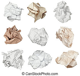 kugel, zerknittertes papier, frustration, muell