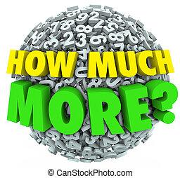 kugel, zusätzlich, frage, wie, viel, zahlen, wollen, bedürfnis, mehr