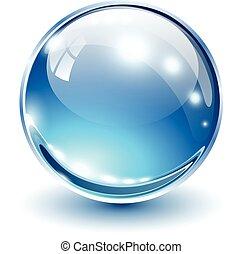 kugelförmig, 3d, glas