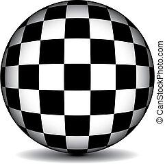 kugelförmig, checkered