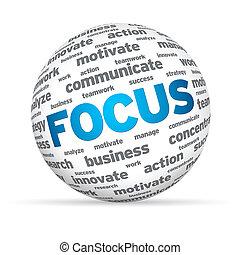kugelförmig, fokus