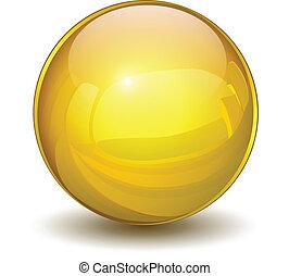 kugelförmig, gold