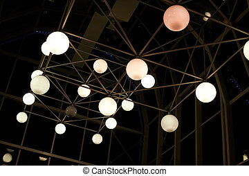 kugelförmig, lampen, design, metall