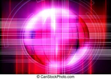 kugelförmig, linie, licht, blitz