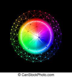 kugelförmig, verbunden