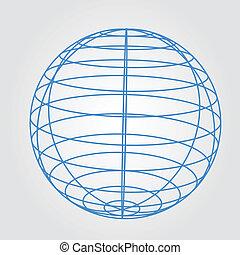 kugelförmig, wireframe