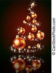 kugeln, baum, weihnachten