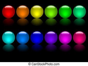 kugeln, farbig