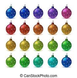 kugeln, weihnachten, bunte