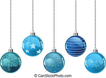 kugeln, weihnachten, coloure