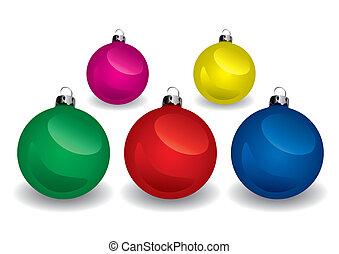kugeln, weihnachten, (vector)