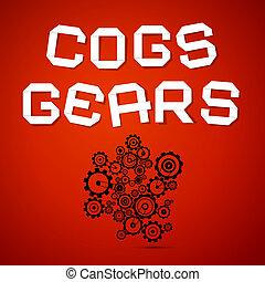 kuggar, abstrakt, -, vektor, utrustar, bakgrund, röd