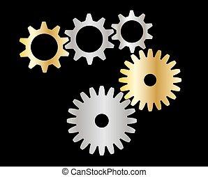 kuggar, (gears)