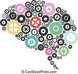 kuggar, hjärna, utrustar