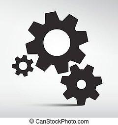 kuggar, vektor, -, utrustar