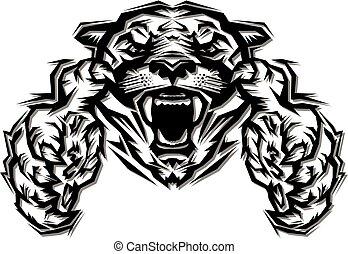 kuguar, maskotka