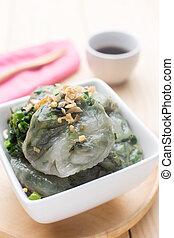 Kuicheai steamed bread, Chinese leek steamed dessert