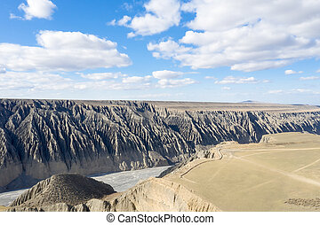 kuitun grand canyon, xinjiang