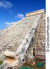 Kukulcan serpent El Castillo Mayan Chichen Itza - Kukulcan...