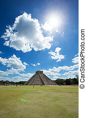 Kukulkan Pyramid in Chichen Itza Site
