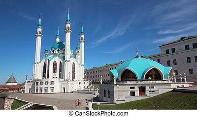 kul sharif mosque in kazan kremlin russia - timelapse