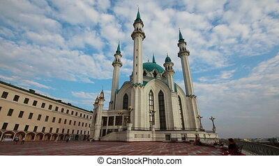 kul sharif mosque in kazan russia - timelapse