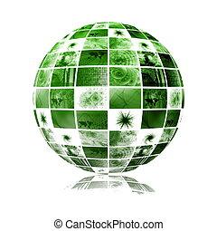 kula, globalny, technologia, świat, media