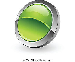 kula, guzik, zielony