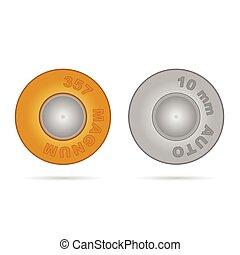 kula, in, guld, och, silver, färg, illustration