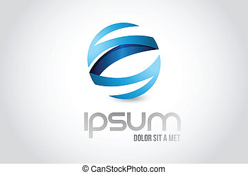 kula, symbol, projektować, ilustracja, logo