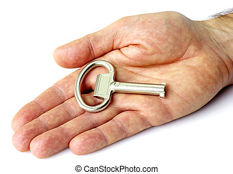 kulcs, kéz