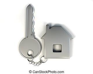 kulcs, noha, otthon