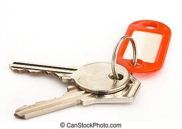 kulcsok, és, címke, 2