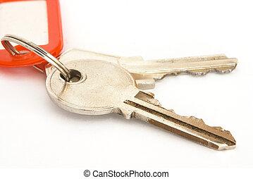 kulcsok, és, címke