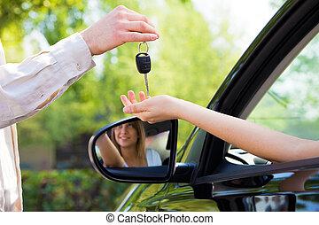 kulcsok, autó