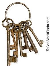 kulcsok, berozsdásodott
